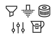 Set filter icons. Filter icons vector set. filtration web illustrations Stock Photography