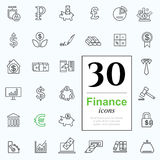 Set finance icons Royalty Free Stock Photography