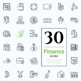 Set finance icons Royalty Free Stock Photos