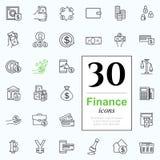 Set finance icons Royalty Free Stock Photos