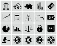 Set of Finance Icons Stock Photography