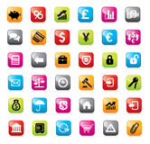 Set of finance icons for web design. Stock Images