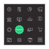 Set of Finance Money Vector Illustration Elements can be used as Royalty Free Stock Images
