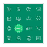Set of Finance Money Vector Illustration Elements can be used as Royalty Free Stock Photography