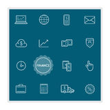 Set of Finance Money Vector Illustration Elements can be used as. Logo or Icon in premium quality EPS Royalty Free Stock Image