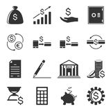 Set of finance related icons isolated on white background. Vector.  Royalty Free Stock Image