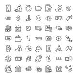 Set of finance thin line icons. High quality pictograms of money. Modern outline style icons collection Royalty Free Stock Photo