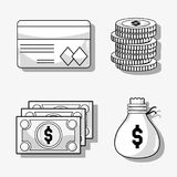 Set financial business to commerce economy. Vector illustration Royalty Free Stock Images