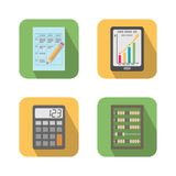 Set of financial business tools. Icons vector illustration isolated Royalty Free Stock Photography
