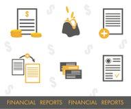 Set  financial icons Stock Photos