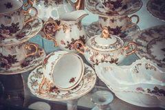 Set of fine bone porcelain Royalty Free Stock Photo