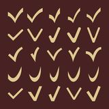 Set of Fine Different  Check Marks Stock Images