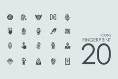 Set of fingerprint icons Stock Images