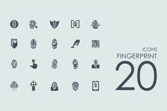 Set of fingerprint icons. Fingerprint vector set of modern simple icons Stock Images