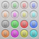 Fingerprint plastic sunk buttons. Set of fingerprint plastic sunk spherical buttons Stock Images