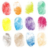 Set of fingerprints,  illustration Royalty Free Stock Photo