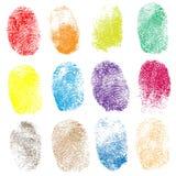 Set of fingerprints,  illustration Royalty Free Stock Photo