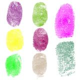Set of fingerprints, vector illustration Royalty Free Stock Photos