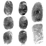 Set of fingerprints, vector illustration Stock Photo