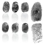 Set of fingerprints, vector illustration Stock Photos