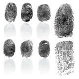 Set of fingerprints, vector illustration Stock Photos