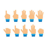 Set of fingers showing numbers Royalty Free Stock Photos