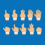 Set of fingers showing numbers Stock Images