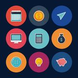 Set of fintech icons. Set of Fintech Financial Internet Technology icons vector illustration graphic design Stock Image