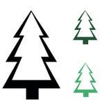 Set of  fir trees Royalty Free Stock Photos