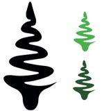 Set of  fir trees Stock Photo