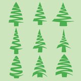 Set of  fir trees Stock Images
