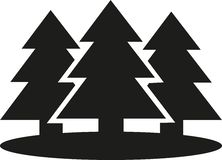 Set of Fir trees. Vector Royalty Free Stock Photo