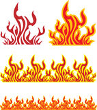Set of fire Royalty Free Stock Image