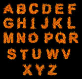 Set of Fire alphabet Royalty Free Stock Images