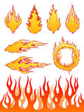 Set of Fire Elements. Lots of great vector fire elements for your work Stock Photos