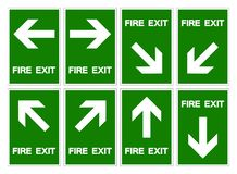Set Of Fire Exit Symbol Sign ,Vector Illustration, Isolate On White Background Label .EPS10 royalty free illustration