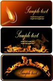 Set of Fire Flame Banner. Stock Photo