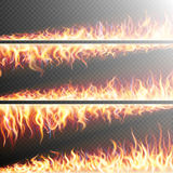 Set of Fire flames on transparent. EPS 10. Set of Fire flames on transparent background. Special effects. Translucent elements. Transparency grid. EPS 10 vector Royalty Free Stock Photography