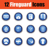 Set of fire service icons. Royalty Free Stock Photos