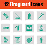 Set of fire service icons Royalty Free Stock Photo