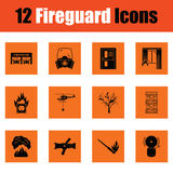 Set of fire service icons Royalty Free Stock Images