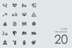 Set of fire service icons. Fire service vector set of modern simple icons Royalty Free Stock Photography