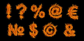 Set of Fire signs Stock Photography