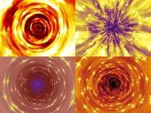 Set of fire tunnel generated textures Stock Images