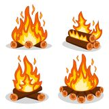 A set of fire wood on a white. A set of fire wood on a white background royalty free illustration