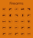 Set of firearms simple icons Stock Images