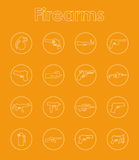 Set of firearms simple icons. It is a set of firearms simple web icons Royalty Free Stock Images