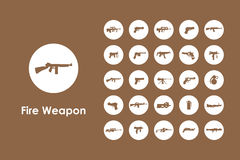 Set of firearms simple icons. It is a set of firearms simple web icons Royalty Free Stock Photo