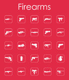 Set of firearms simple icons. It is a set of firearms simple web icons Stock Photography