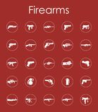 Set of firearms simple icons. It is a set of firearms simple web icons Stock Photo